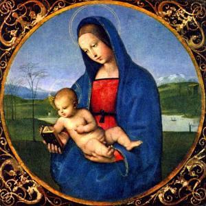 【フリー素材】神聖なマリア様の絵画【アンティーク/ヴィンテージ】
