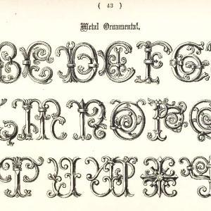 【フリー素材】装飾文字・アルファベット Ornamental alphabet【アンティーク・ビンテージ】