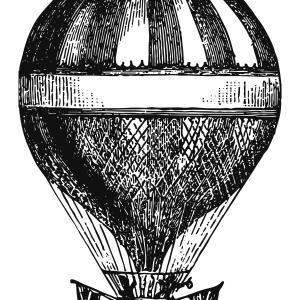 【フリー素材】気球 Balloon【アンティーク・ビンテージ】