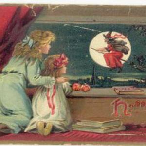 【フリー素材・商用可】ハロウィーンのグリーティングカード【アンティーク・ビンテージ】
