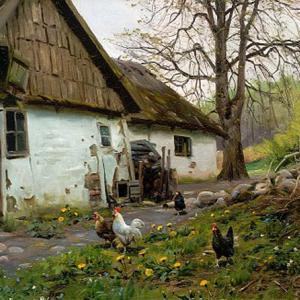 【フリー素材・商用可】Peder Mørk Mønsted 田園風景【アンティーク・ビンテージ】