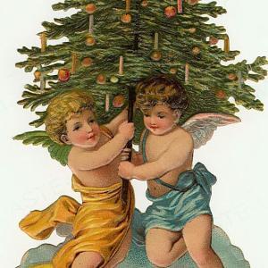 【フリー素材・商用可】 クリスマスのエンジェルたち【アンティーク・ビンテージ・パブリックドメイン】