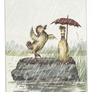 【フリー素材・商用可】ユニークな動物たちのカード【アンティーク・ビンテージ・パブリックドメイン】