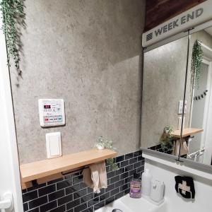 洗面·ランドリーの改装  棚をつける