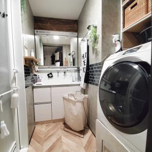 洗面の洗濯カゴがプチストレスだったのでチェンジしましたm(_ _)m
