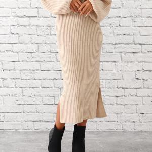 anap Latina ディープスリットニットタイトスカート