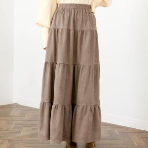 CHILLE anap スウェード風ティアードスカート