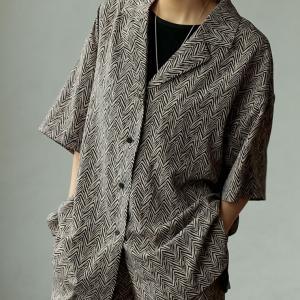 Re:EDIT‐リエディ 線柄開襟ルーズシャツ
