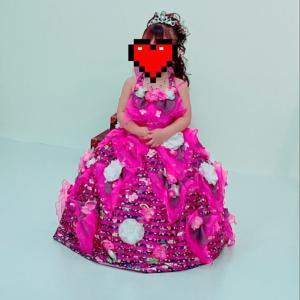 スタジオマリオで一歳と七五三の三歳の記念写真♥️