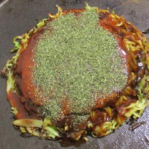 はじめて広島焼きを自宅で焼きました。