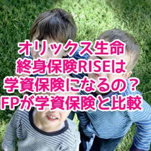 オリックス生命終身保険RISEは学資保険になるの?FPが学資保険と比較
