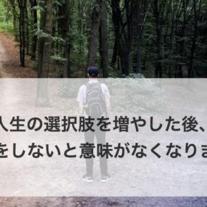 【悲報】人生の選択肢を増やした後、〇〇をしないと意味がなくなります。