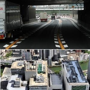 """ビルの中を高速が貫通する!大阪の """"珍"""" 光景"""