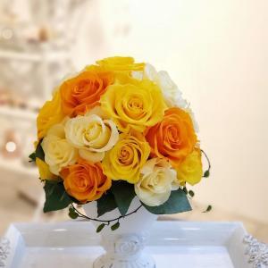 プリザの魅力を再確認したローズドームアレンジ