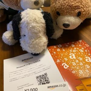 Amazonギフト券当選したのだー!!(ᵔᴥᵔ)