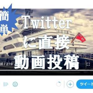 【PC版】Twitterに直接動画投稿する方法