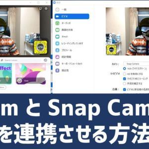 【簡単図解】ZoomとSnap Cameraの連動方法