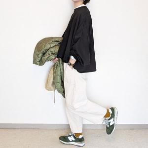 アラフォーにも着られるスウェット×パンツは色合わせと形が大切~merlot(メルロー)