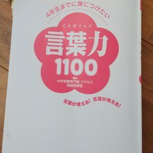 「言葉力1100」で、語彙力アップ狙っていきます!