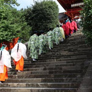 【鎌倉いいね】撮れたて。今日は年に一度の鶴岡八幡宮の例大祭です。