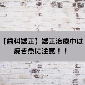 【歯科矯正】矯正治療中は焼き魚に注意!!