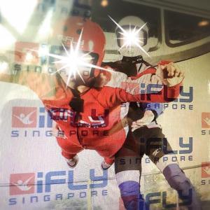 かつてないマヌケ顔で飛んでみた‼︎@iFly Singapore