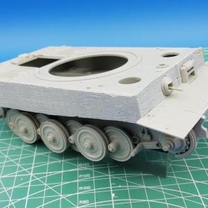 【トランペッター】ティーガーⅠ その2 履帯と砲塔など