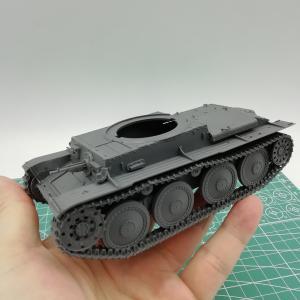 ドイツ軽戦車38(t) 砲塔と小物の製作