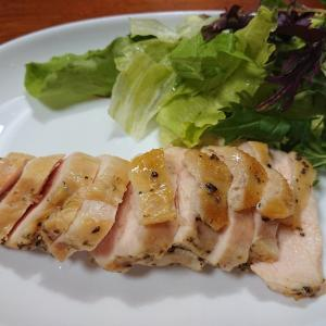☆サラダチキンと亜麻仁油ドレッシング