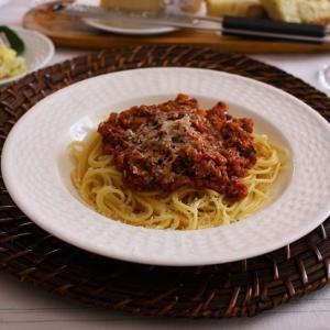 スパゲッティボロネーゼ&ポテトサラダ