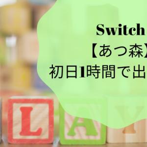 Nintendo Switch【あつ森】初日1時間で出来た事。
