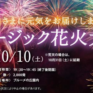 10月10日(土) 「滋賀農業公園ブルーメの丘」でミュージック花火大会が開催される! / 蒲生郡