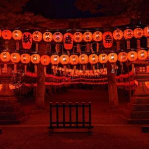 """『萱野神社』で開催中の""""夏の風物詩""""「献灯祭」を見てきました!点灯は9月5日まで / 大津市"""