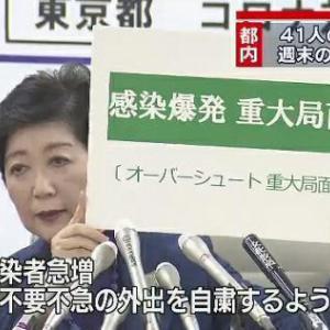 【横文字廃止】小池知事が緊急会見「感染拡大要警戒」