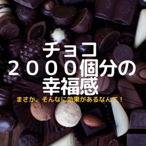 【0円!チョコ2000個の幸福感】