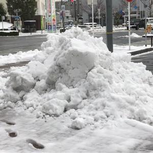 山陰地方は大雪 夜に降った雪は積雪10センチ 仕事に行ってきます