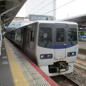 四国に出張・・・岡山から瀬戸大橋を通り、香川県坂出市へ コロナの影響でJR特急はガラカラです