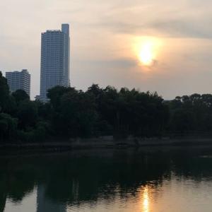 広島・京橋川の夕暮れ 一日の疲れを癒してくれる美しい風景でした