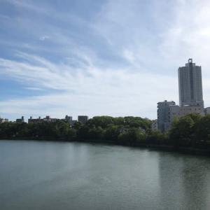 広島市は爽やかな秋空が広がっています そよ風が気持ちいいです