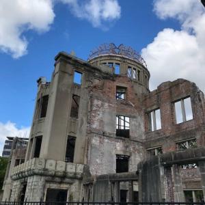 広島・平和公園に修学旅行生が戻ってきました アフターコロナの平和に戻って欲しい今日この頃