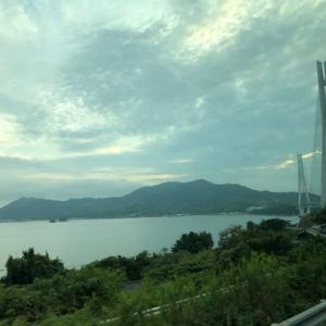 しまなみ街道を渡って四国に出張 瀬戸内海が美しいです