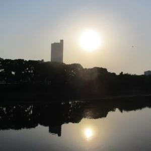 夕暮れの京橋川リバーサイド・・・川から吹く風が心地よいです・・・広島市は6本の川が流れるリバータウンです
