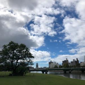 台風一過、広島市は晴・・・気持ちいい朝を迎えました