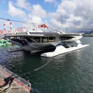 282)_RACE FOR WATER号が鹿児島にやって来た(°▽°)/