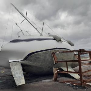 343)_台風10号によるヨット被害( ̄▽ ̄)