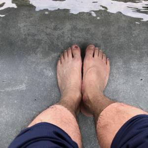 346)_今日は市比野温泉で弁当を食べ、足湯に入りました(^。^)