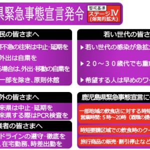 549)_屋久島でクラスター発生(//∇//)、鹿児島にも「まん延防止等重点措置」が適用です(//∇//)