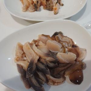 石川鮮魚店でホッキ貝&つぶ貝