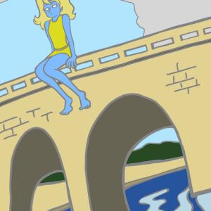 橋の上のゾンビガール