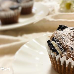 混ぜるだけオレオマフィン!ホットケーキミックスで簡単すぎるカップケーキ